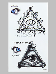 Fashion Tattoo Eye Waterproof Tattoo Stickers