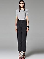 ZigZag® Women's Round Neck Short Sleeve T Shirt Gray - 11430