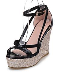 Women's Shoes PU Wedge Heel Wedges / Heels / Platform / Open Toe Sandals Office & Career / Dress / Casual