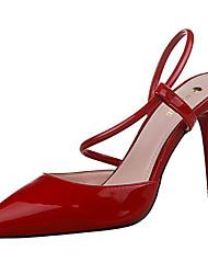 Women's Shoes PU Stiletto Heel Heels Heels Casual Black / Pink / Purple / Red / White / Gray