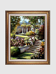 Hand-Painted Landscape / Floral/BotanicalModern / European Style One Panel Canvas Oil Painting For Home Decoration