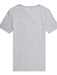 Trenduality® Herren Rundhalsausschnitt Kurze Ärmel T-Shirt Schwarz / Hellgrau-63011