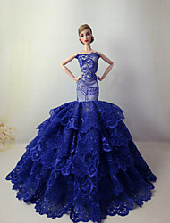 Barbie Doll Holiday Party Dress in Sapphire Blue