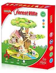 3D - Puzzle / Papiermodell Für Geschenk Bausteine Model & Building Toy Haus Plastik Vor 6 Gelb / Grün Spielzeuge