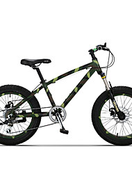 "7 Speeds 20""x11""x4.0"" Fat Tire Snow Bike OBK™ Fat Bicicleta Mountain Bike Suspension Aluminium Alloy Fork"