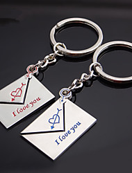A Pair Envelope Key Chain Lettering I Love You Couple Keychain Fashion And Creative Gifts