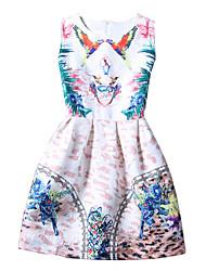 Vestido Chica de-Verano-Algodón-Blanco