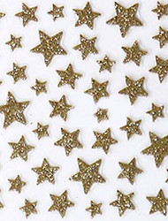 Lovely Gold Western Style Star 3D Nail Stickers