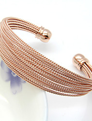 Multi-Layer Steel Wire Cuff Bangle