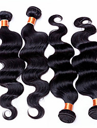 4Pcs/Lot 100% Unprocessed Peruvian Virgin Hair Body Wave Human Hair Weaves Extensions Peruvian Body Wave 6A