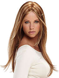 Long Cosplay Straight Synthetic Hair Wig Medium Bang Light Brown Blonde Heat Resistant