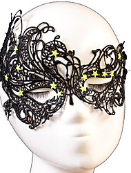 Halloween Props Cosplay Mask Fashion Star Swan Pattern Lace Party Mask Cosplay Accessories