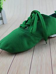 Non Customizable Women's Dance Shoes Ballet Canvas Flat Heel Multi-color
