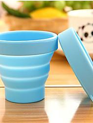 tazas plegables de silicona viajes portátiles deportes al aire libre para hacer gárgaras telescópica color al azar