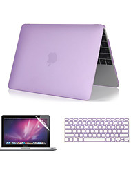"Case for MacBook Pro 13""/15"" with Retina display Solid Color ABS Material 3 in 1 Crystal Clear Soft-Touch Case with Keyboard Cover + Screen Protector"