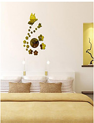 Clock Butterfly | Acrylic Mirror Clock clock  Stylish Living Room Watch