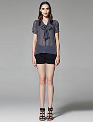ZigZag® Femme Col en V Manche Courtes Shirt et Chemisier Bleu marine - 11350