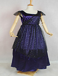 Une Pièce/Robes Gothique / Doux / Lolita Classique/Traditionnelle / Punk Steampunk® Cosplay Vêtements de Lolita Bleu Couleur PleineSans