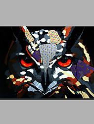 abstrata moderna da pintura a óleo pintado à mão pura pronto para pendurar a decoração da coruja