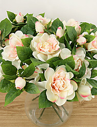 A Branch Silk Gardenia Artificial Flowers Multicolor Optional 1pc/set
