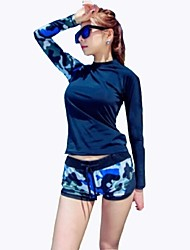 Women Sexy Swimming Suits UV Swimsuit Conjoined Sun-protective Swimwear Jellyfish Long-sleeve Wetsuit Suits=Top+Pants