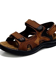 Men's Shoes Outdoor / Office & Career / Work & Duty / Athletic / Dress / Casual Nappa Leather Sandals Brown / Yellow