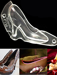 3D High Heel Shoe Chocolate Candy Cake Decorating PC Mould Jelly Ice Soap Mold