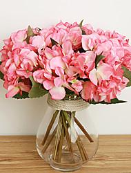 A Branch Aritificial Silk Short Hydrangea Multicolor Optional 1pc/set