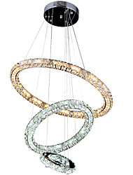 LED Ring Crystal Pendant Lights Ceiling Chandeliers Lamps Fixtures with 3Ring 305070CM 67.5W CE FCC ROHS