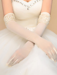 Elbow Length Fingerless Fingertips Glove Spandex Bridal Gloves Party/ Evening Gloves Spring Fall Winter Beading