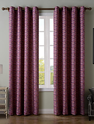 Chadmade SOFITEL Contemporary Heat Tranfer Print Abstract Stripe Pattern - Lined Curtain Panel Drapes - Purple Stripe