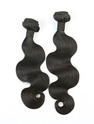 """1 пучки 12 """"-26"""" бразильские объемная волна девственница волос необработанный утков натуральный черный 1b # человеческих волос"""