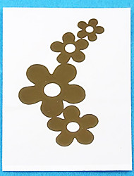 Metallic Paper Women Gold for Hair Tattoo Stickers