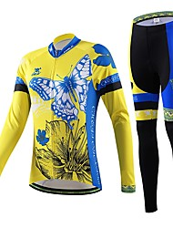Cycling Jersey with Tights Women's / Men's / Unisex Long Sleeve BikeBreathable / Quick Dry / Wearable / Back Pocket / Sweat-wicking /