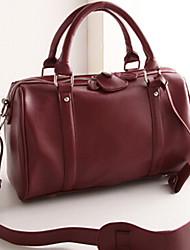 Women PU Shoulder Bag / Tote Brown / Black