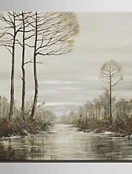 dibujar la mini pintura al óleo del tamaño de correo hogar moderno vista lateral río pura mano de pintura decorativa sin marco