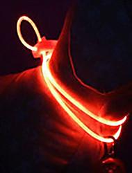Macskák Kutyák Gallérok LED fények Állítható/Behúzható Biztonság Tömör Piros Zöld Kék Rózsaszín Sárga Műanyag