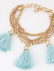 Women's European Fashion Trend Tassel Multilayer Metal Chain Bracelet