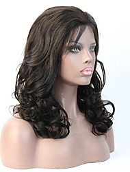 Natural Looking 150% Density Human Hair Wavy Wig For Black Women With Baby Hair