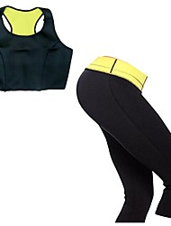 Women Neoprene Fitness Yoga Sport Tops + High Waist Capris