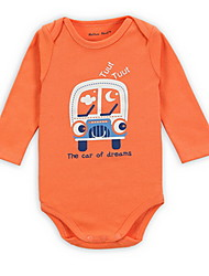 Girl's Orange Overall & Jumpsuit Cotton Spring