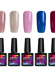 Modelones 5Pcs Gelpolish Nail Art Salon Gel Polish Soak Off UV Gel Shining Color Varnisn C109