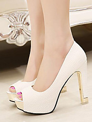 Women's Shoes Pump Fashion Club Chunky Heel Heels / Peep Toe Heels Party & Evening / Dress