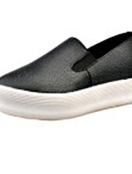 Women's Shoes PU Flat Heel Comfort Flats Outdoor / Office & Career / Work & Duty / Athletic / Casual Black / White