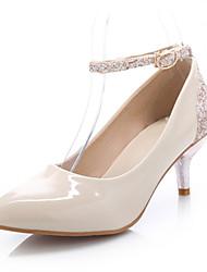 Women's Shoes Kitten Heel Heels/Pointed Toe Pumps/Heels Office & Career/Casual Black/White/Beige