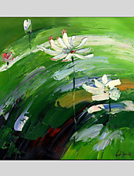 Abstract Flower Style Canvas Material Oil Paintings with Stretched Frame Ready To Hang Size 70*70CM