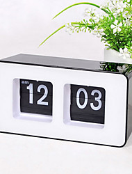 Retro Auto Flip Wall Clock Stylish AM/ PM Format Display Timepiece Home Decor