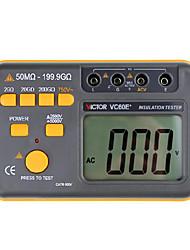 victor vc60e + jaune pour la résistance d'isolement mégohmmètre