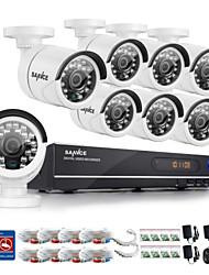 sistema de cámara de 8 canales sannce® AHD-720 del registrador DVR de la noche del día casa de seguridad resistente a la intemperie