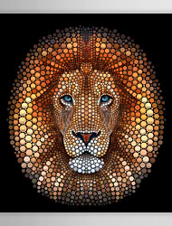 Animal Digital Circlism Lion by Ben Heine Canvas Print From Ready to Hang